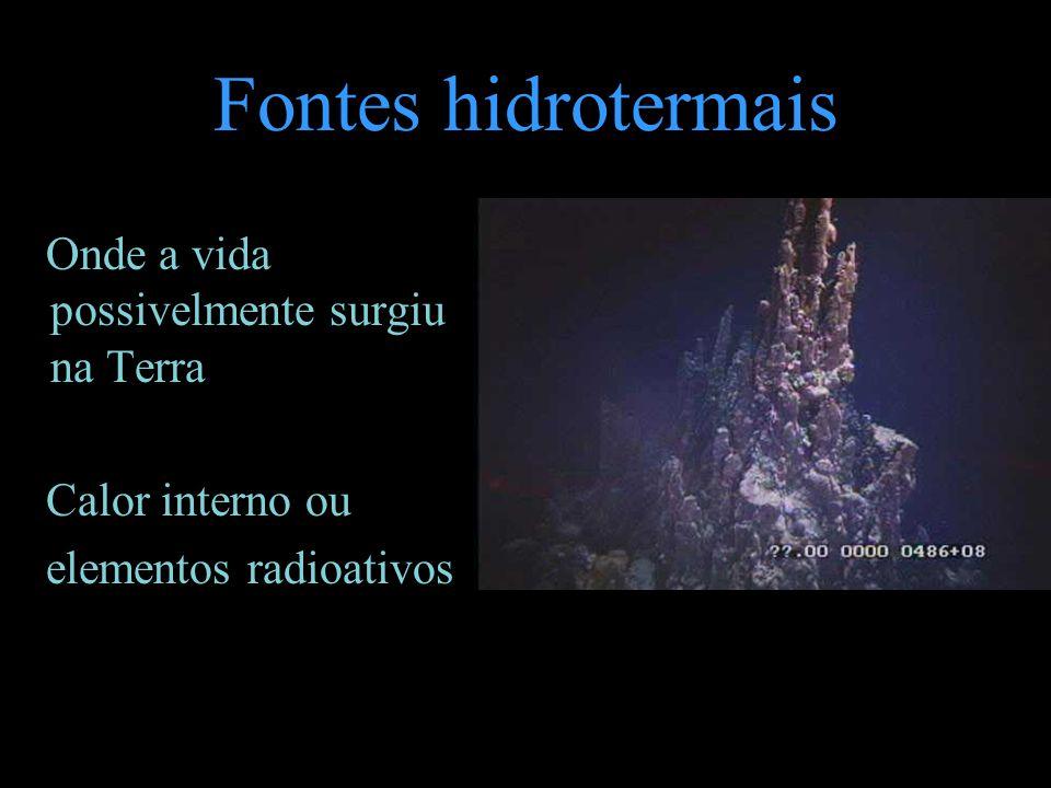 Fontes hidrotermais Onde a vida possivelmente surgiu na Terra