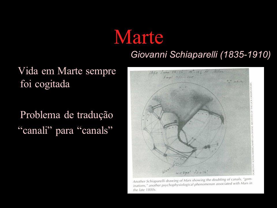 Marte Vida em Marte sempre foi cogitada Problema de tradução