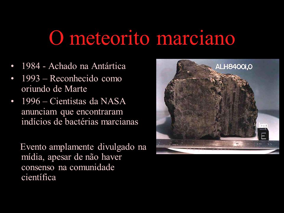 O meteorito marciano 1984 - Achado na Antártica