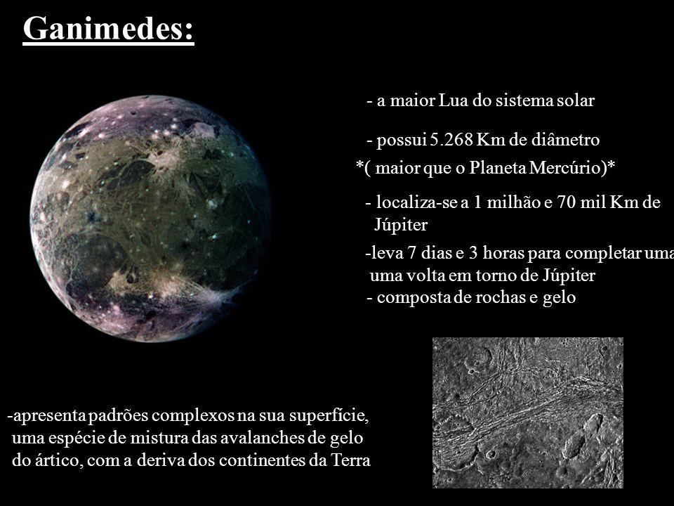 Ganimedes: - a maior Lua do sistema solar