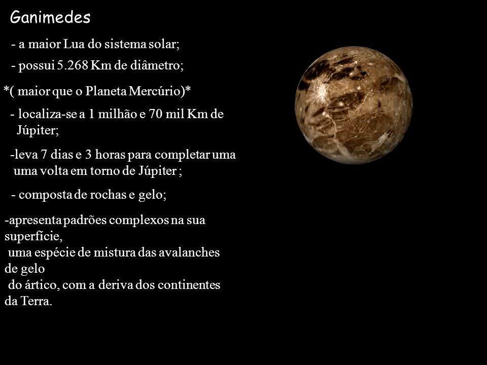 Ganimedes - a maior Lua do sistema solar;