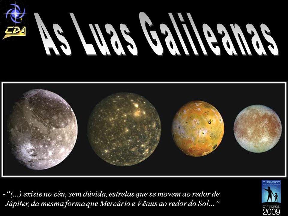 As Luas Galileanas (...) existe no céu, sem dúvida, estrelas que se movem ao redor de.