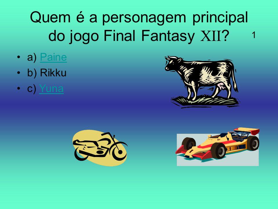 Quem é a personagem principal do jogo Final Fantasy XII