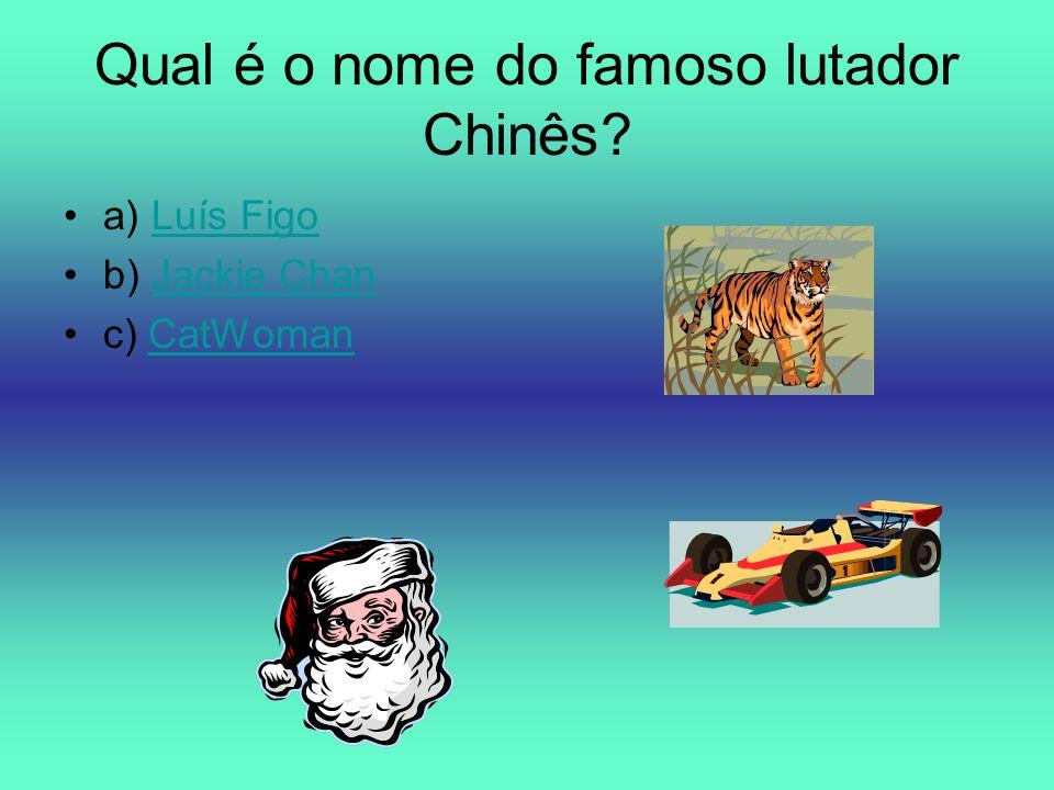 Qual é o nome do famoso lutador Chinês