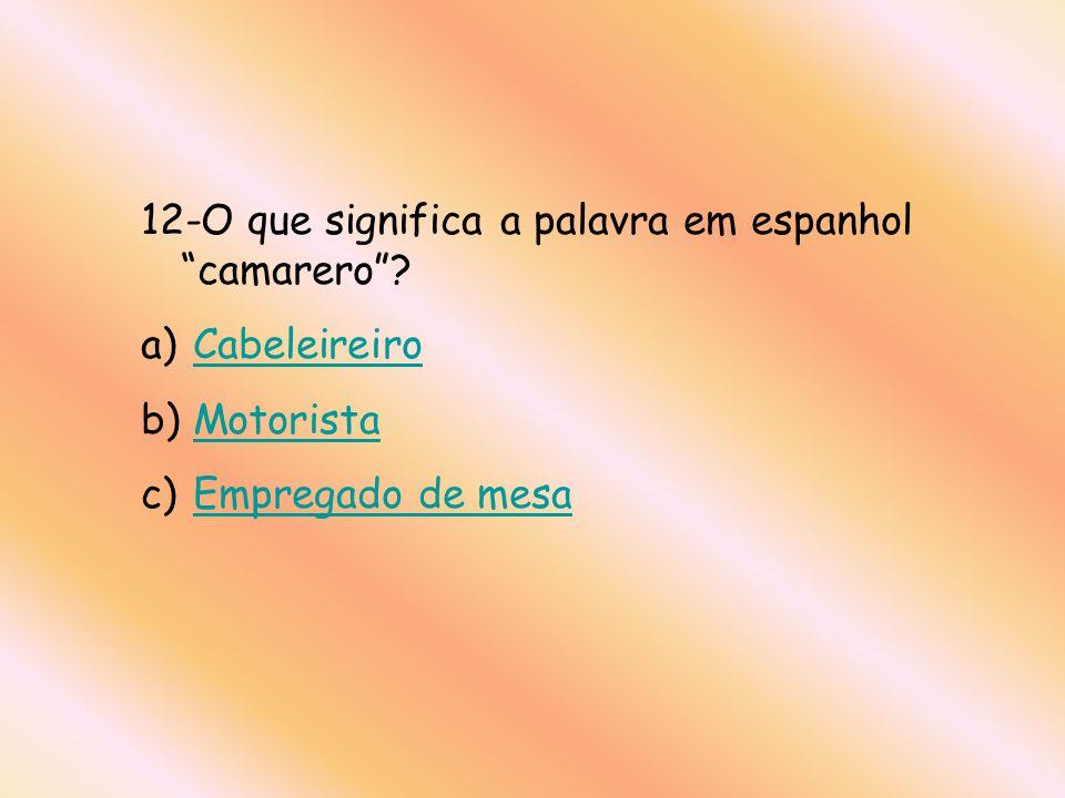 12-O que significa a palavra em espanhol camarero