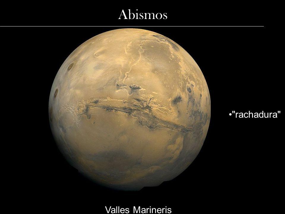 Abismos rachadura Valles Marineris
