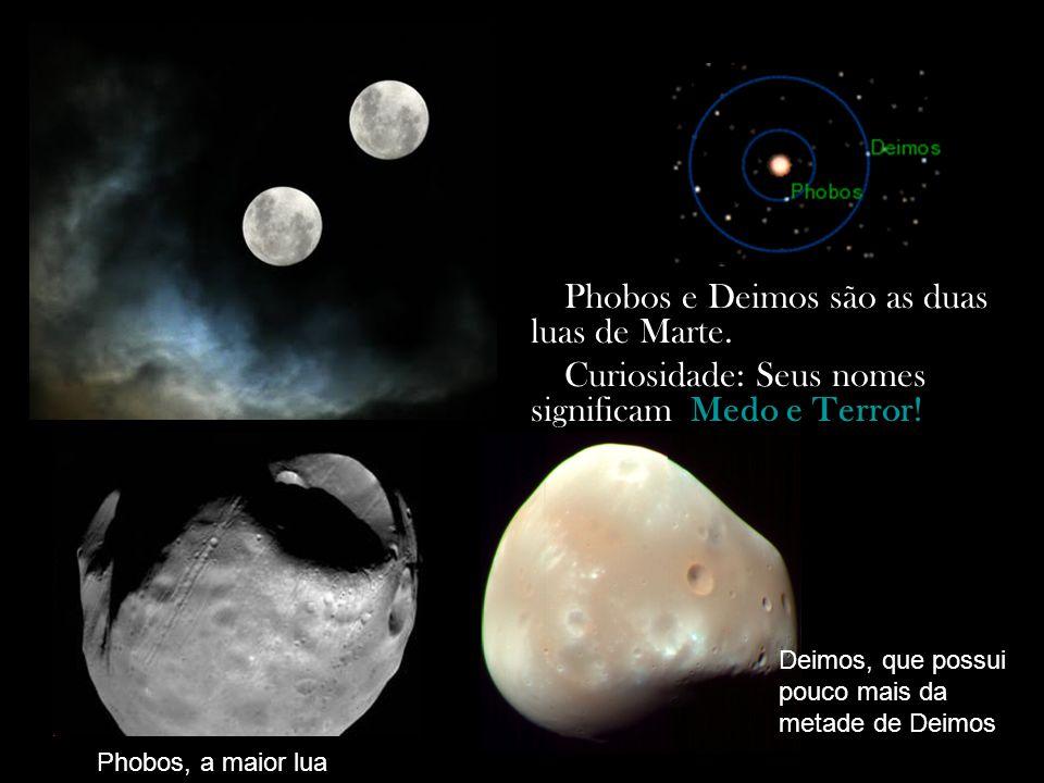 Phobos e Deimos são as duas luas de Marte.