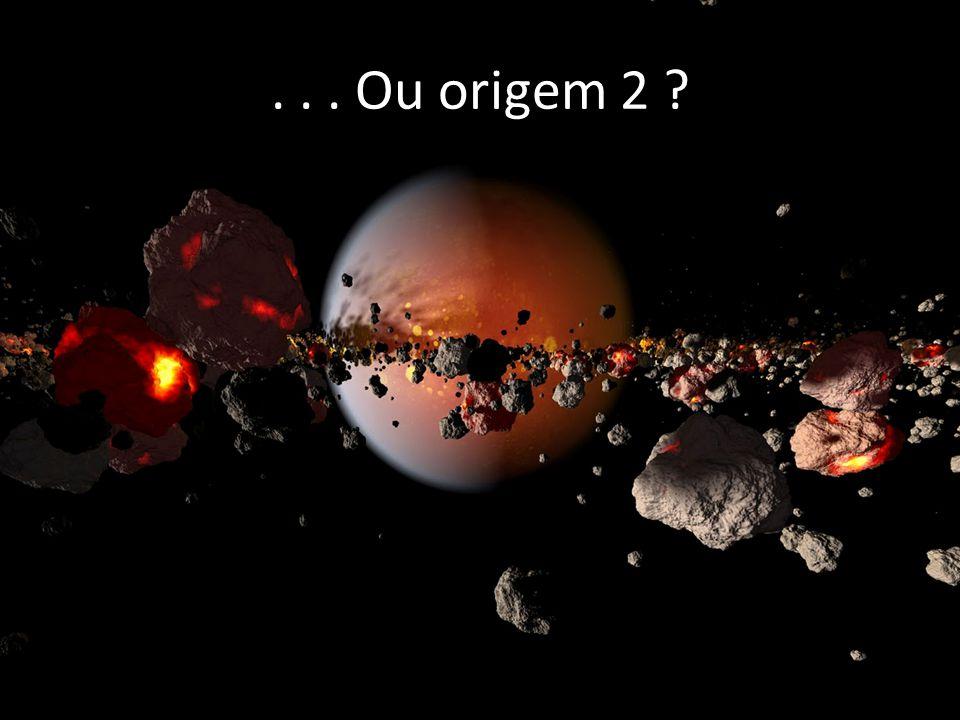 . . . Ou origem 2 Outra possibilidade seria de que os asteróides tivessem se originado da mesma massa de gás e poeira formadora do sistema solar.