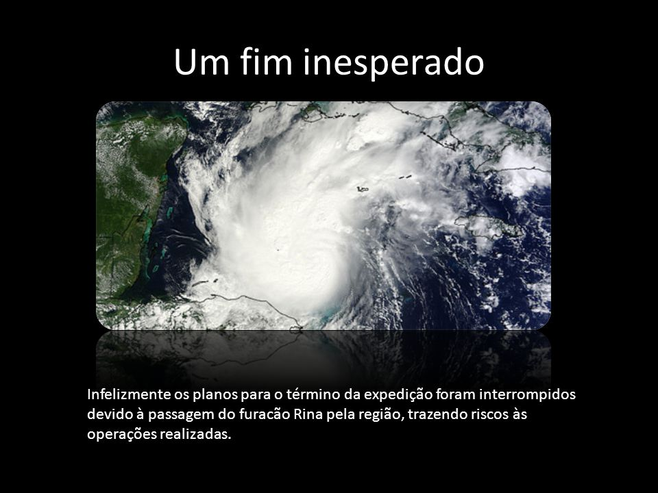 Um fim inesperado Fonte: http://www.nasa.gov/mission_pages/NEEMO/index.html.