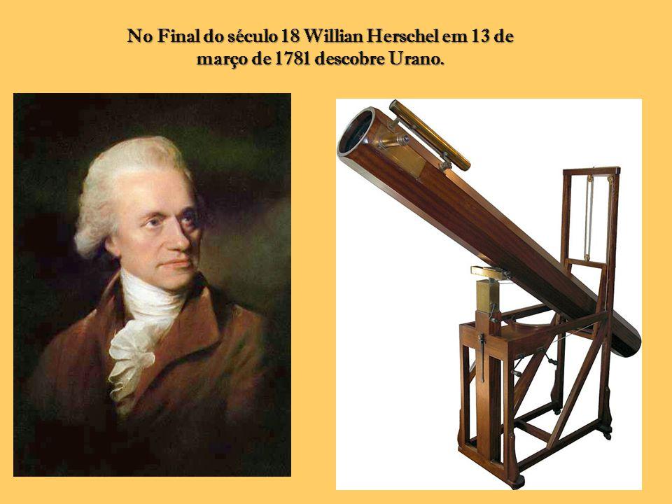 No Final do século 18 Willian Herschel em 13 de março de 1781 descobre Urano.