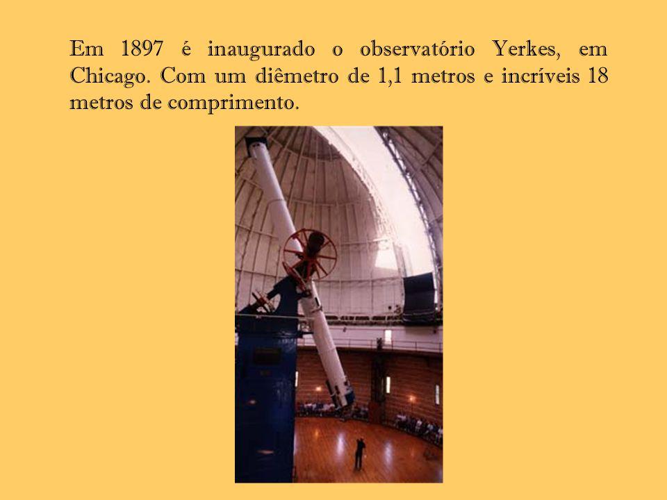Em 1897 é inaugurado o observatório Yerkes, em Chicago