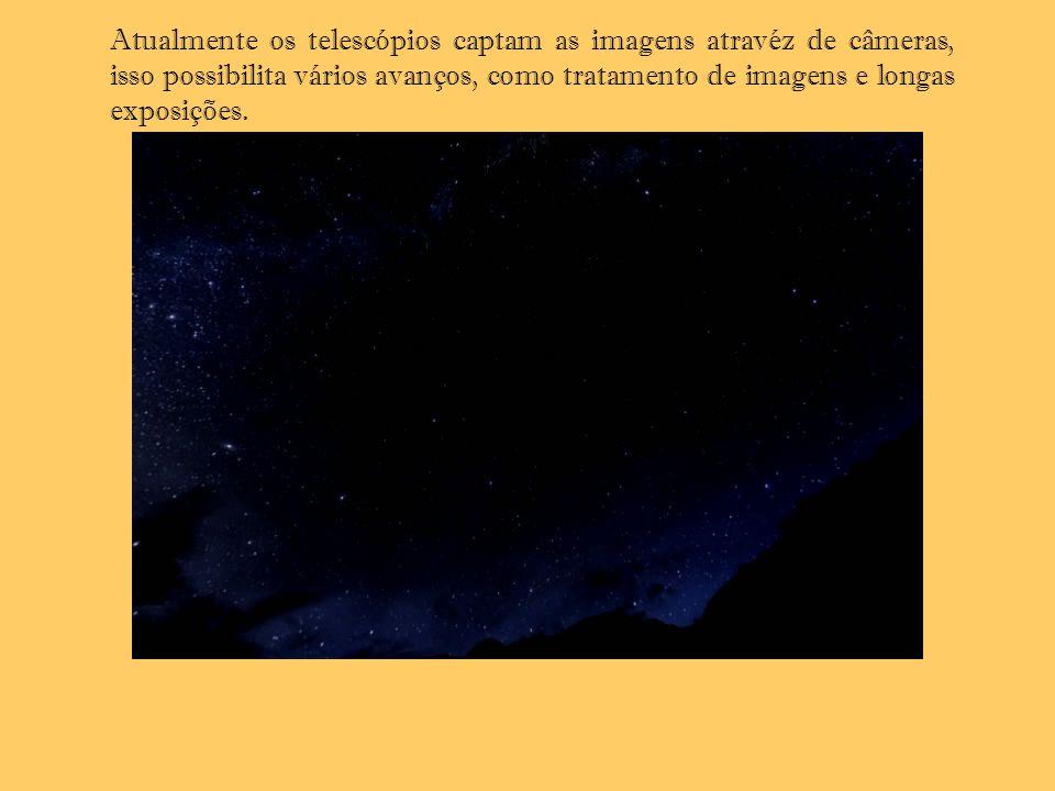 Atualmente os telescópios captam as imagens atravéz de câmeras, isso possibilita vários avanços, como tratamento de imagens e longas exposições.