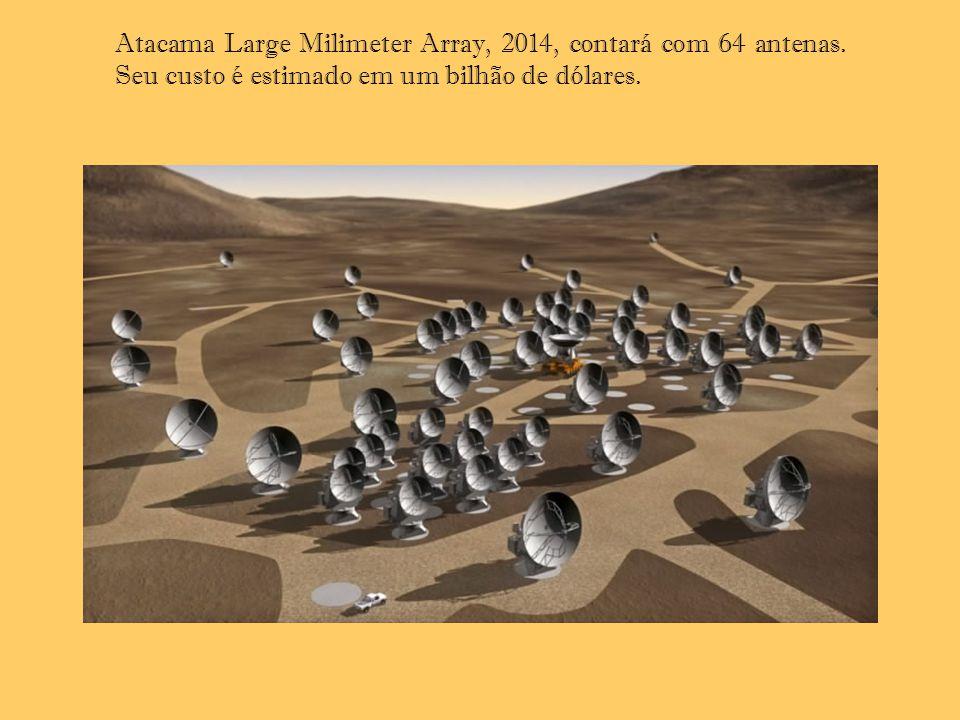 Atacama Large Milimeter Array, 2014, contará com 64 antenas
