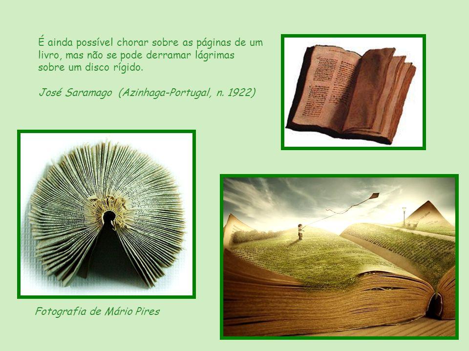 É ainda possível chorar sobre as páginas de um livro, mas não se pode derramar lágrimas sobre um disco rígido.