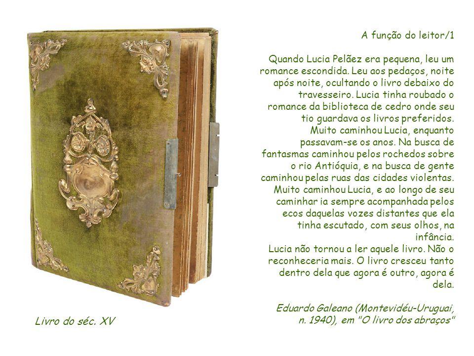 Livro do séc. XV A função do leitor/1