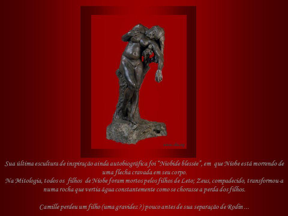 Sua última escultura de inspiração ainda autobiográfica foi Niobide blessée , em que Níobe está morrendo de uma flecha cravada em seu corpo.