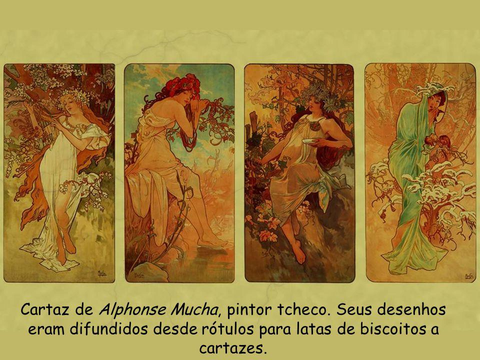 Cartaz de Alphonse Mucha, pintor tcheco