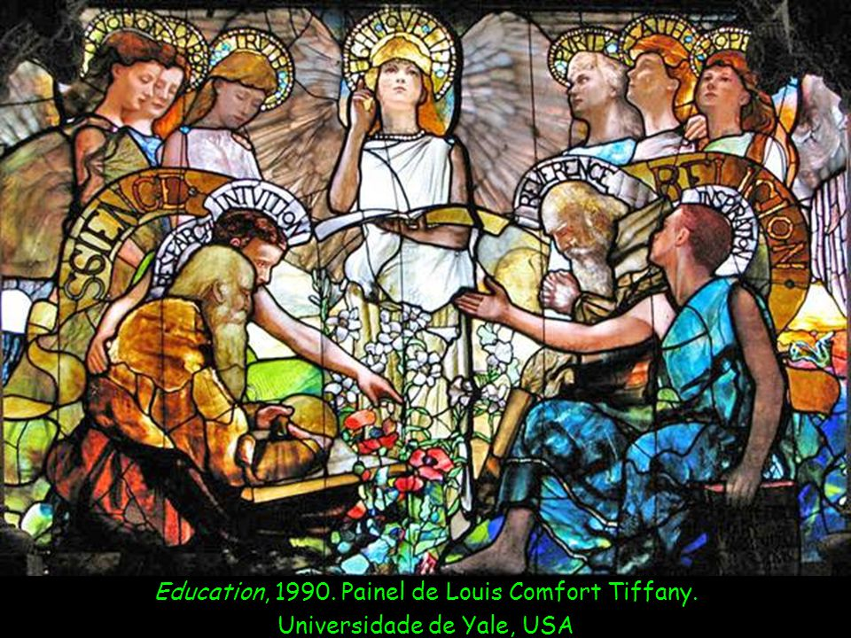 Education, 1990. Painel de Louis Comfort Tiffany.