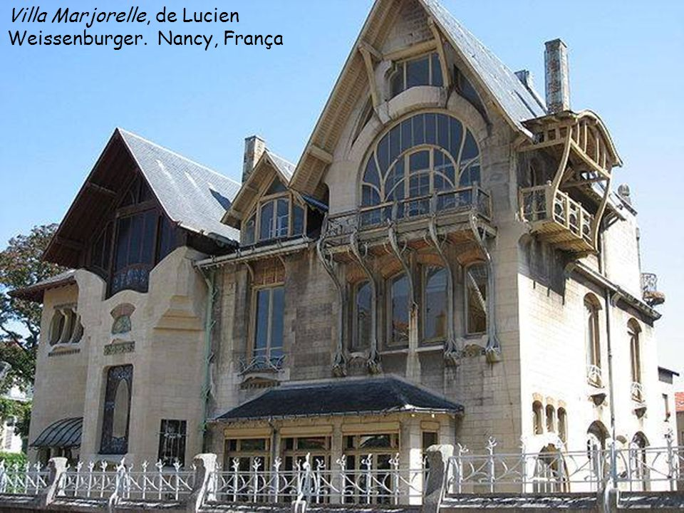 Villa Marjorelle, de Lucien Weissenburger. Nancy, França
