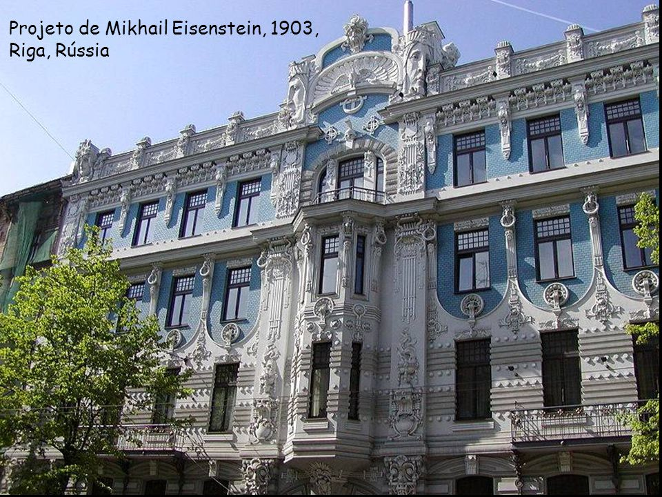 Projeto de Mikhail Eisenstein, 1903, Riga, Rússia