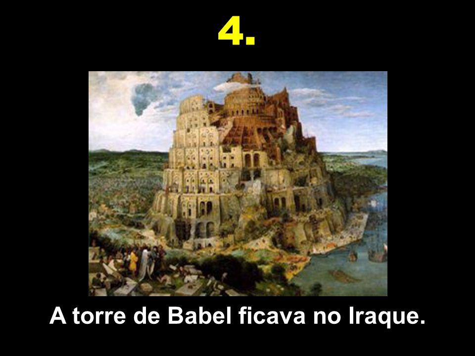 A torre de Babel ficava no Iraque.