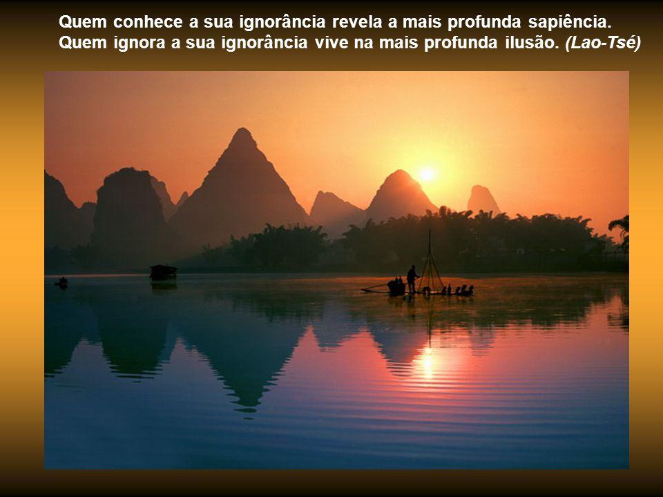 Quem conhece a sua ignorância revela a mais profunda sapiência