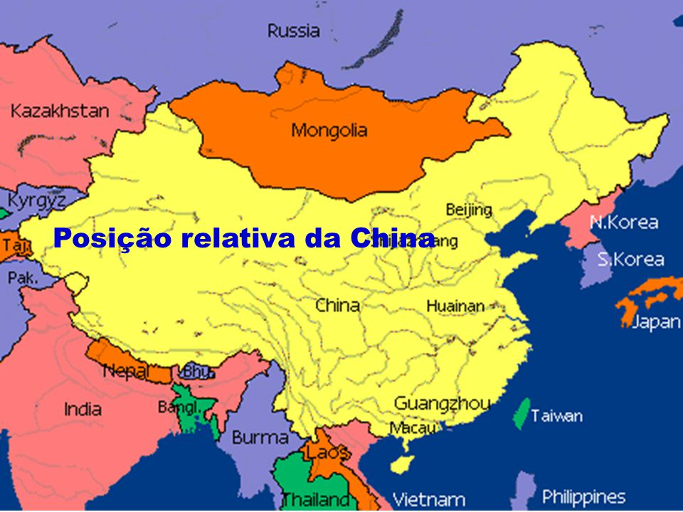 Posição relativa da China