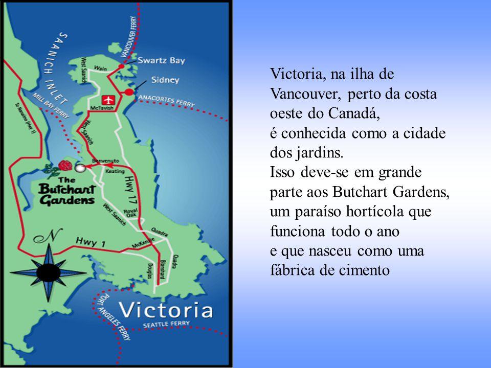 Victoria, na ilha de Vancouver, perto da costa oeste do Canadá,