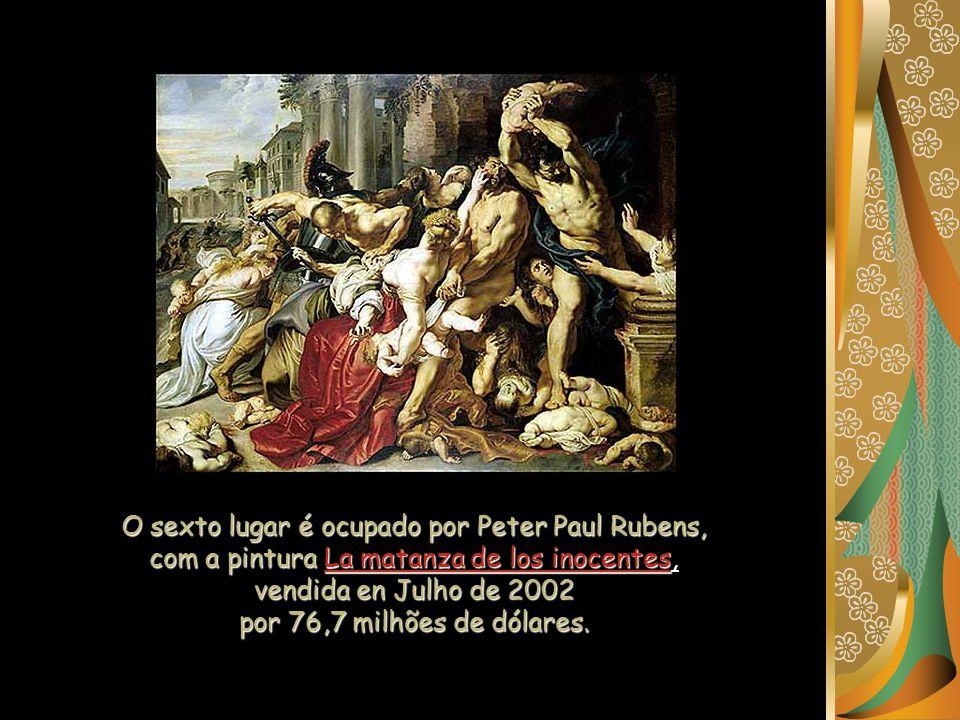 O sexto lugar é ocupado por Peter Paul Rubens,
