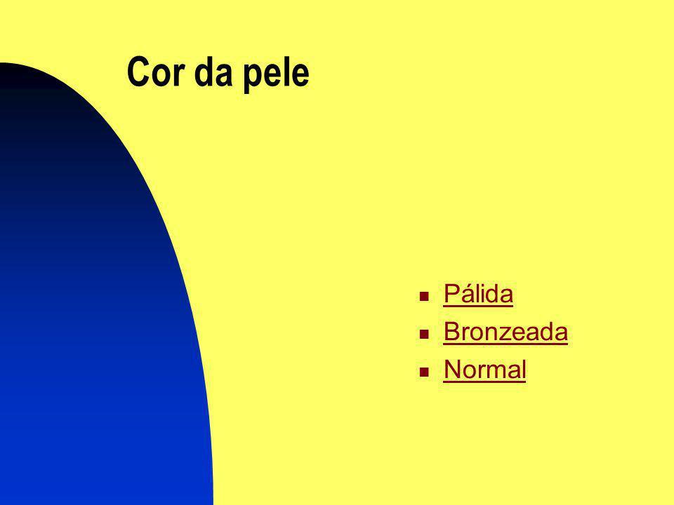 Cor da pele Pálida Bronzeada Normal