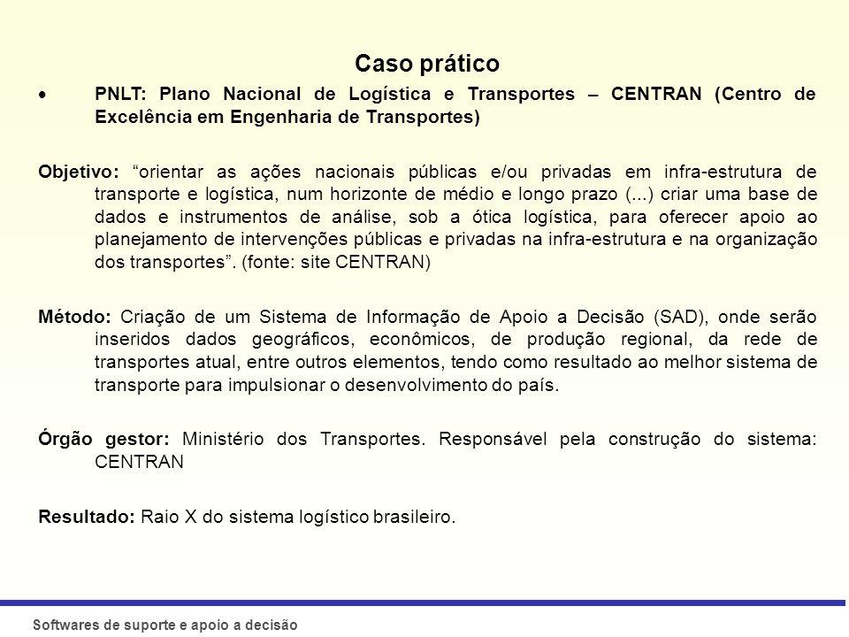 Caso prático PNLT: Plano Nacional de Logística e Transportes – CENTRAN (Centro de Excelência em Engenharia de Transportes)