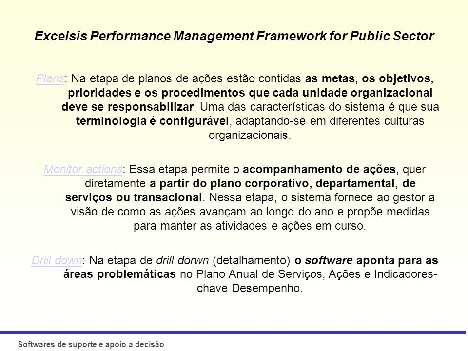 Excelsis Performance Management Framework for Public Sector