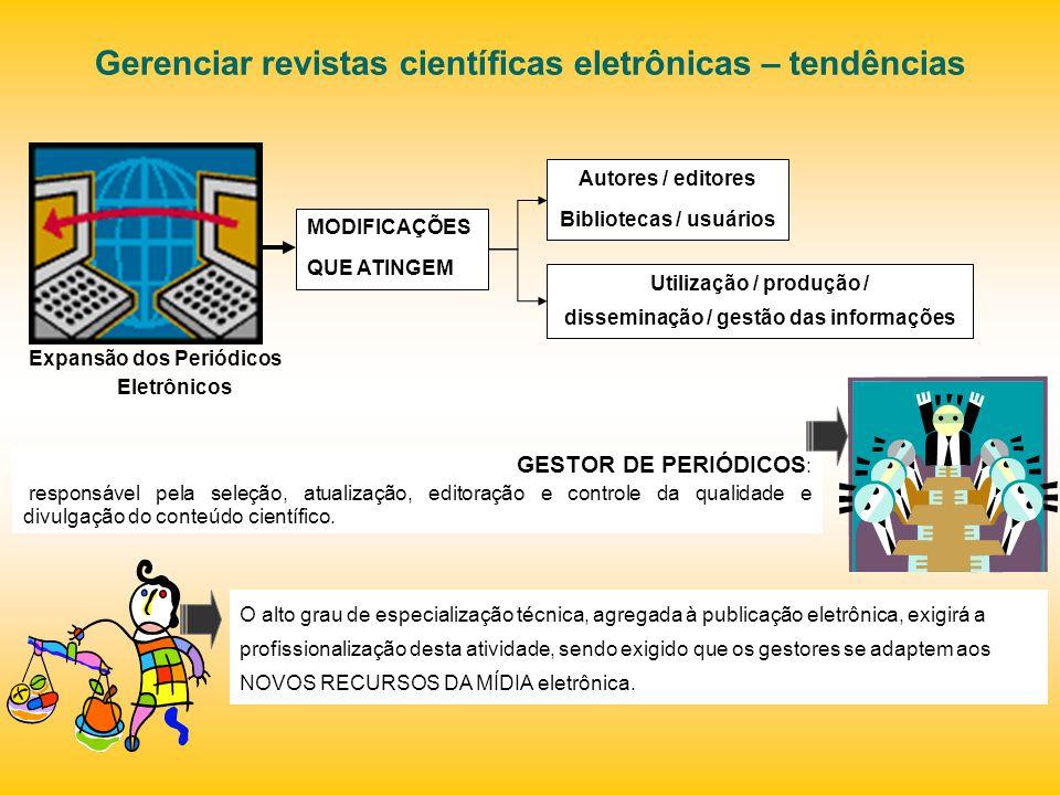 Gerenciar revistas científicas eletrônicas – tendências