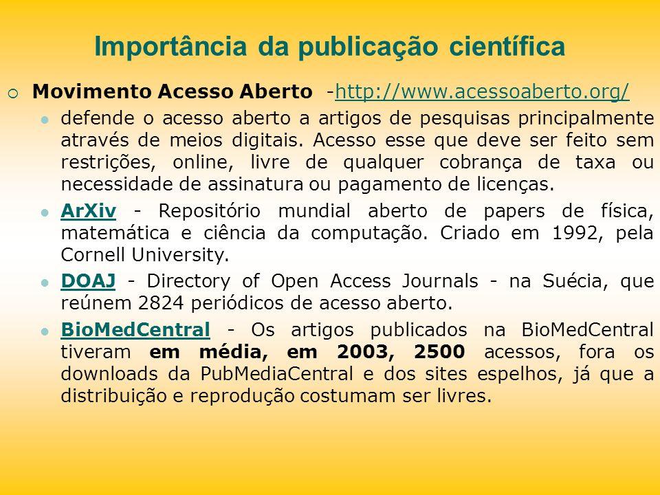 Importância da publicação científica