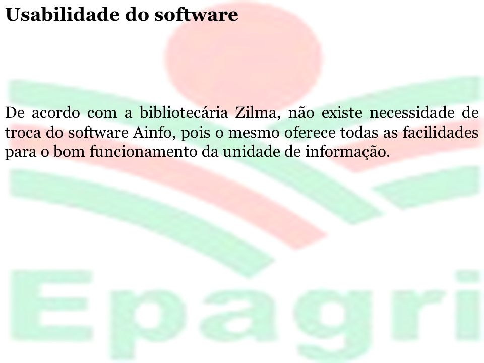 Usabilidade do software