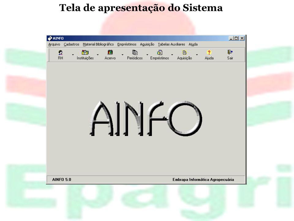 Tela de apresentação do Sistema
