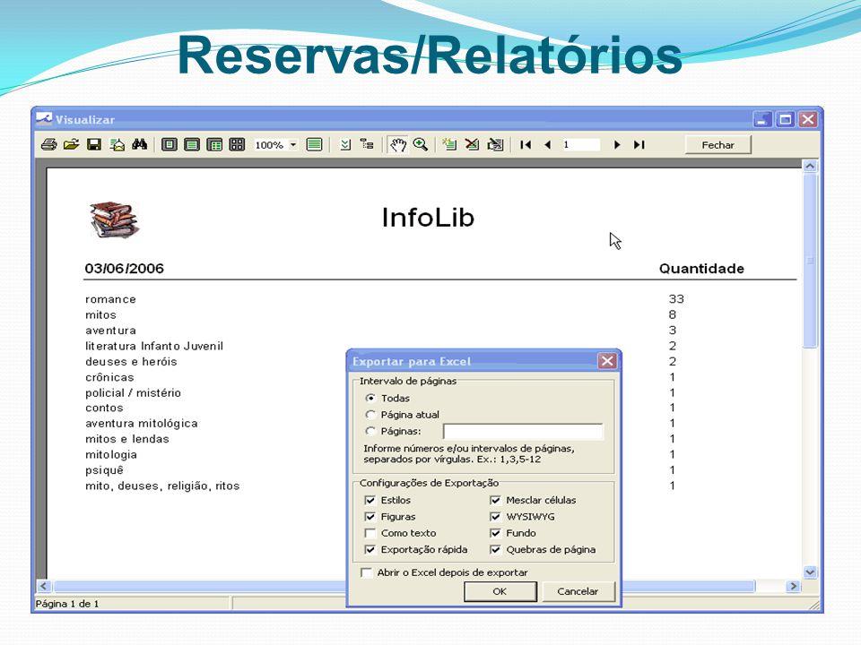 Reservas/Relatórios