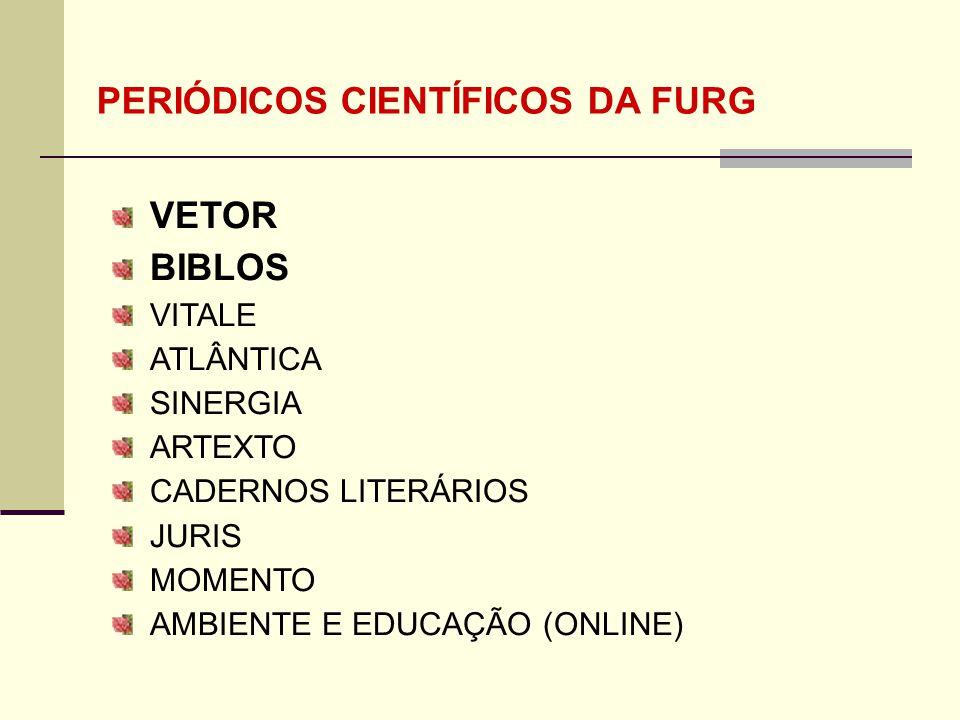 PERIÓDICOS CIENTÍFICOS DA FURG