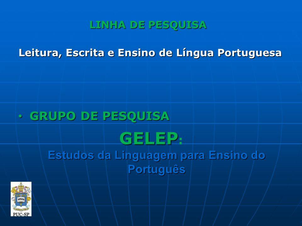 GELEP: Estudos da Linguagem para Ensino do Português