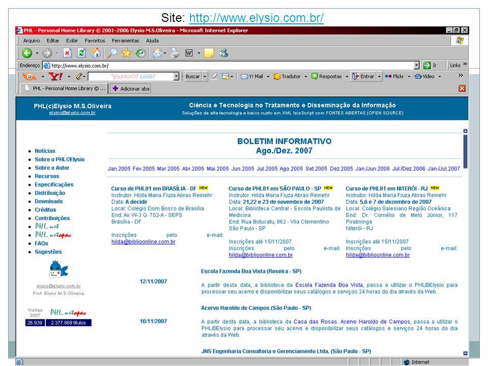 Site: http://www.elysio.com.br/