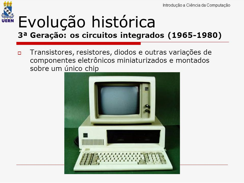 Evolução histórica 3ª Geração: os circuitos integrados (1965-1980)