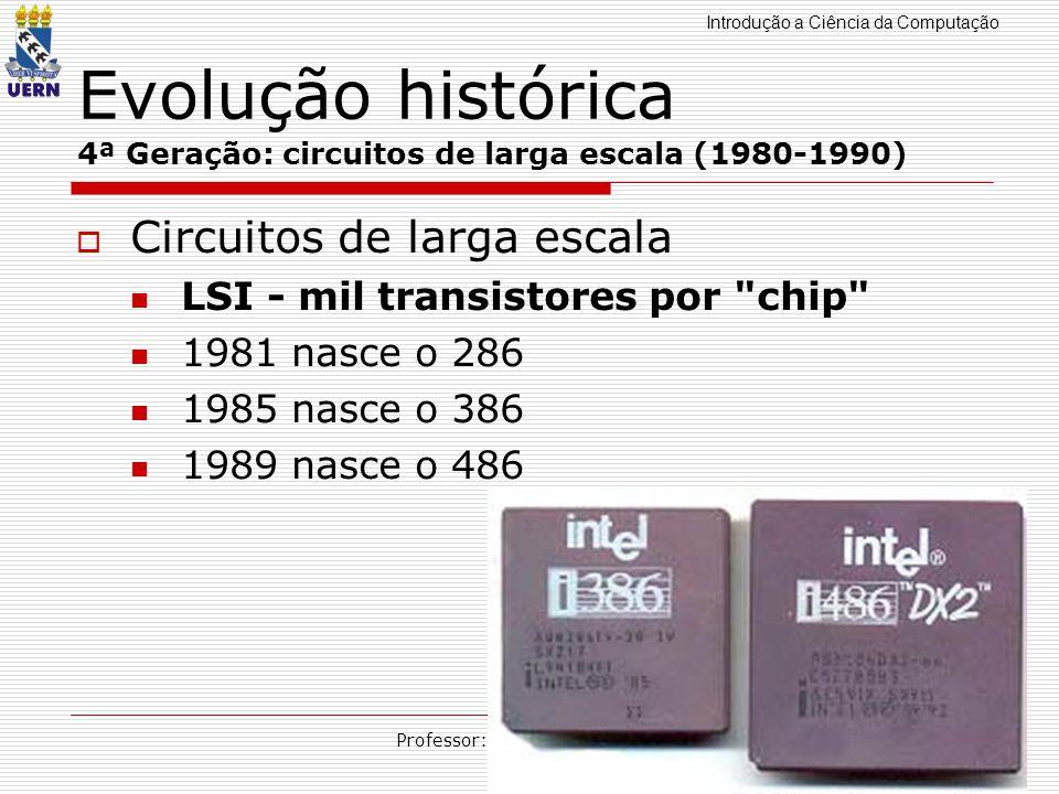 Evolução histórica 4ª Geração: circuitos de larga escala (1980-1990)