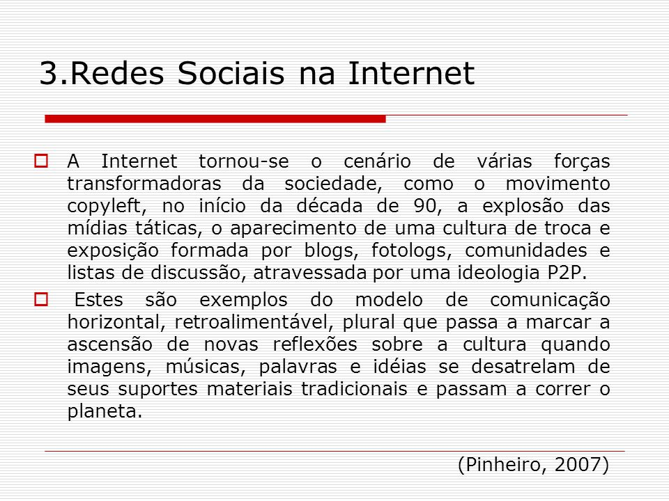 3.Redes Sociais na Internet