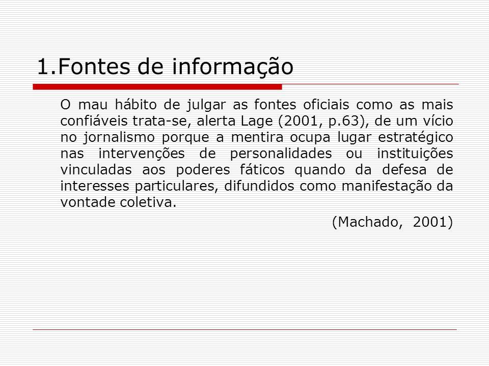 1.Fontes de informação