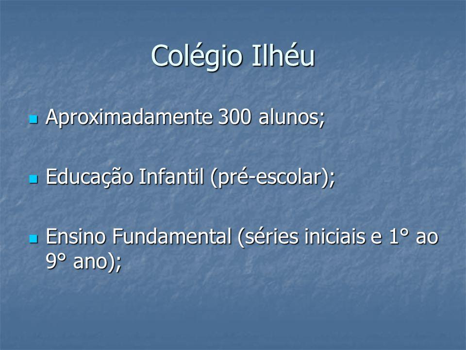 Colégio Ilhéu Aproximadamente 300 alunos;