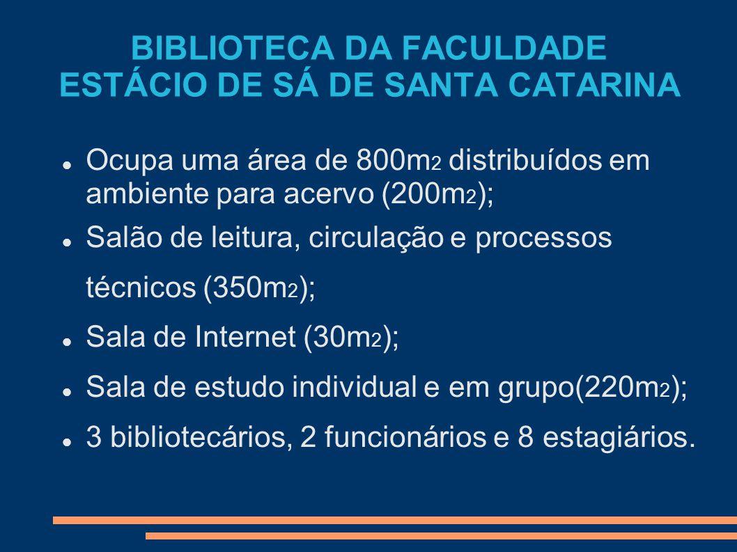 BIBLIOTECA DA FACULDADE ESTÁCIO DE SÁ DE SANTA CATARINA