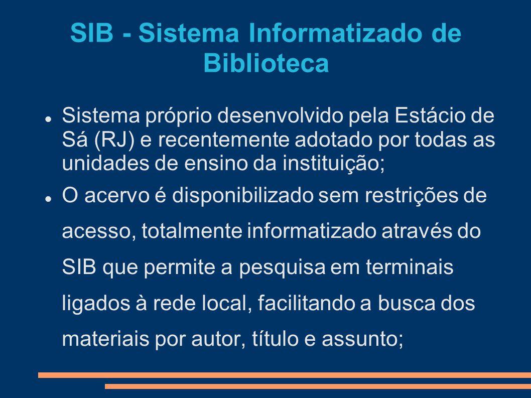 SIB - Sistema Informatizado de Biblioteca