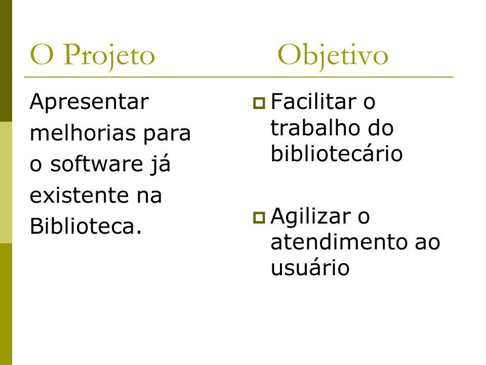 O Projeto Objetivo Apresentar melhorias para o software já