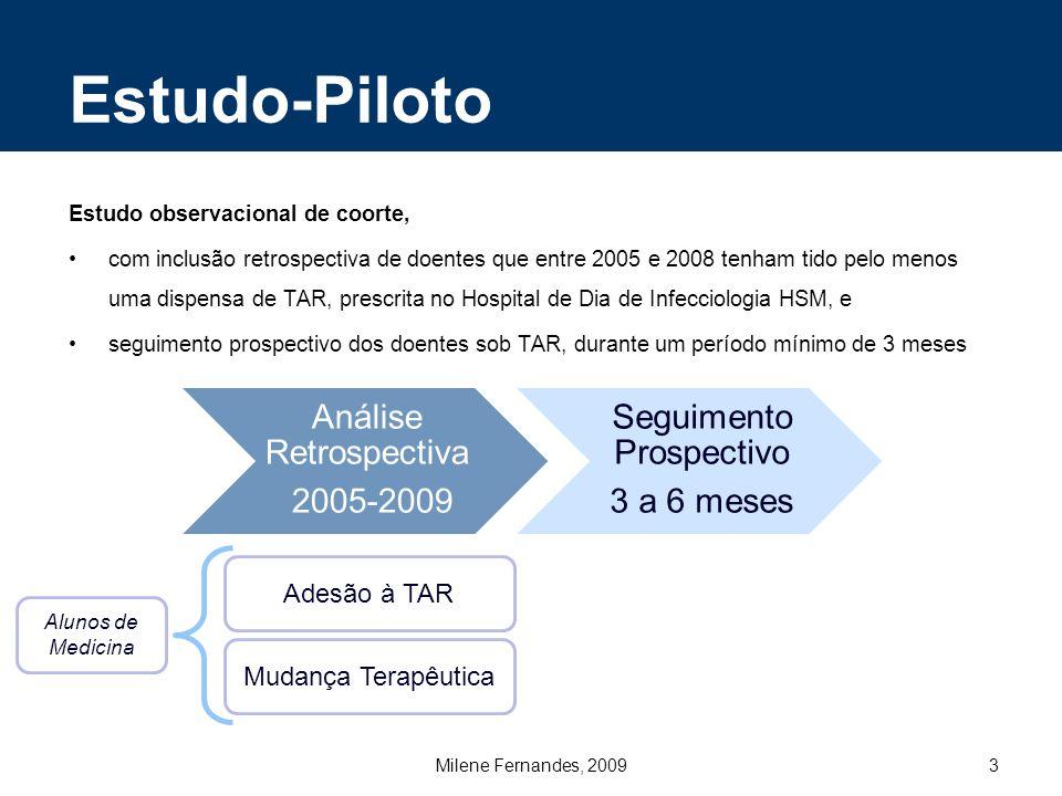 Estudo-Piloto Adesão à TAR Mudança Terapêutica
