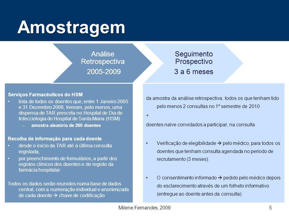 Amostragem Seguimento Prospectivo Análise Retrospectiva 2005-2009